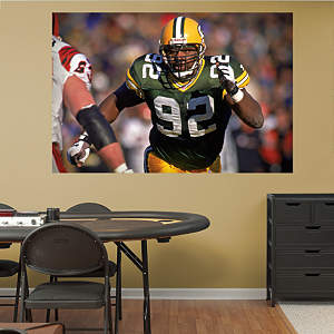 Reggie White Packers - In Your Face Mural Fathead Wall Decal